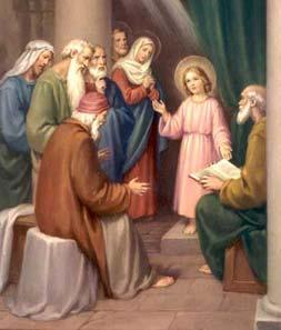 П'ята радісна таємниця. Знайдення підлітка Ісуса в Храмі
