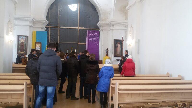 Зїзд молоді в Чечельницькому санктуарії